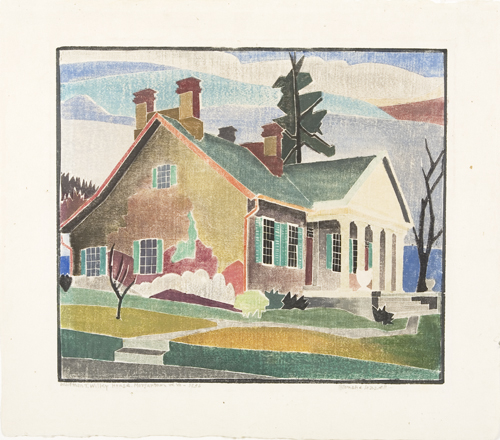 Greeting card, multi-color house