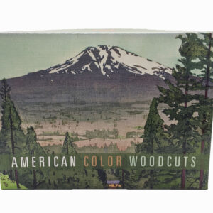 Box of greeting cards; box image of a mountain