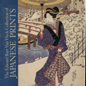 Book cover, woman with umbrella in snow