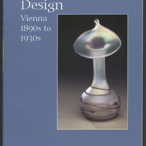Book cover, blue background with a vase