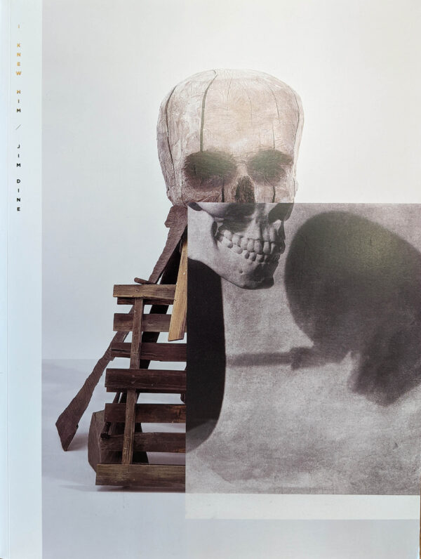 Book cover, large skull