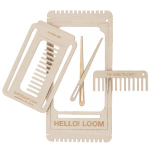 Mini wooden loom